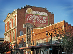 Petaluma's Choice (skipmoore) Tags: petaluma cocacola ghostsign lanmartshops neon sign