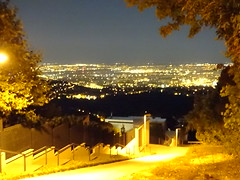 Look-out in the night (zbenjamin2) Tags: night lookout tower budapest hungary buda mountain hill sasadiút melindautca city light tree nature
