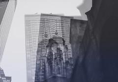 Double Exposure (Nun Nicer Artist) Tags: doubleexposure double monochrome travel 35mm streetphotography building city nunnicer newyork blackandwhite bnw architecture art artphotography 35mmstreetphotography street