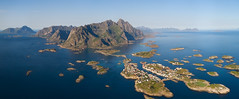 Panorama of fishing village on lofotens, Norway (czdistagon.com) Tags: mountain aerial drone bridge coastline birdseye freedom wide background hamnoy tourism tourist seascape peaks outdoor islands destination house panoramic sunny view town island coast panorama lofoten sea village norway landscape scenic water reine fjord scandinavia nature fishing arctic ocean north nordland blue travel norwegian summer europe scenery mountains picturesque