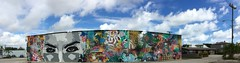 Watching Wall (LarryJay99 ) Tags: street wallart wall cloudysky mural sky blue urban scape townscape bluesky