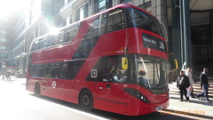 P1180200 2548 YX69 NLY at Liverpool Street Station Bishopsgate Primrose Street London (LJ61 GXN (was LK60 HPJ)) Tags: hackneycommunitytransportgroup ctplus alexanderdennistrident2hybrid enviro400hybrid enviro400hhybrid enviro400h enviro400hybridcity enviro400hhybridcity enviro400hcity enviro400city e400h 105m 10500mm 2548 yx69nly k4201