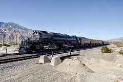 union pacific 4014. palm springs, ca. 2019. (eyetwist) Tags: eyetwistkevinballuff eyetwist train steam locomotive up4014 bigboy 4014 desert palmsprings sangorgonio pass mountains windmills unionpacific uprr 4884 classic historic 1941 alco america industry sonoran rail railroad nikon nikond7000 d7000 nikkor capturenx2 1024mmf3545g nikcolorefexpro california railway transport up pacific union boy big bigboy4014 upbigboy american west sand curve