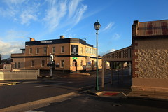 Early Morning in Port Elliot (Darren Schiller) Tags: portelliot hotel streetscape morning southaustralia fleurieupeninsula clouds shop architecture building community pub history heritage old rural rustic smalltown store