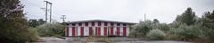 Striped Panorama 2 (efo) Tags: color notfilm digital panorama striped building abandoned fujifilm xe2