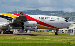 1st A340 spotted (Willem GRANNAVEL) Tags: a340 a343 air belgium landing martinique 1st new schedule tourism airbus 340 tfff airport