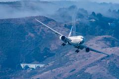 United 777 with tip vortices (SBGrad) Tags: 200500mmf56e 2019 777 777200 alr boeing d750 fleetweek fleetweeksf n217ua nikkor nikon sfbayarea sanfrancisco sunday unitedairlines airshow flying