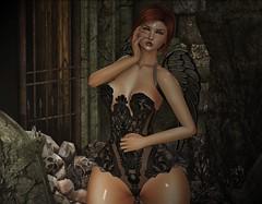 ♚ #788 ♚ (Caity Saint) Tags: ebento pacagaia slackgirl sg ak akeruka lavieenpose event sl secondlife pixels avatar backdrop doll magika redhead 7deadly skin elei pose bento