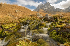 Juta Valley River (E-C-K ART) Tags: green kazbegi geoorgia hill river mose grass rocks mountain clouds hiking wide angle exposure