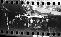 2019-10 H BW R02 003 (kccornell) Tags: adam cupcake 35mm film kodak tmax 100 hasselblad 500c sprocket holes bw black white lafayette louisiana festivals acadiens october 2019