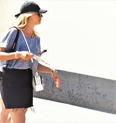 Tourist zone (thomasgorman1) Tags: tourist travel nikon woman candid walking spain barcelona public streetshots streetphotos sidewalk city urban