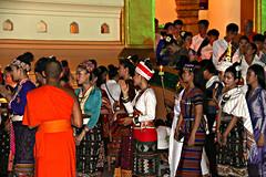 Leaving the pagoda (bindubaba) Tags: laos vientiane buddhism monks wat bounokphansa buddhistlent watongteu pagoda