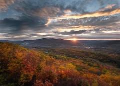 Autumn Vista (ejjiv) Tags: fall autumn sunset landscape foliage fallfoliage sunstar clouds mountains sky berkshires newengland massachsetts