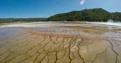 The World Famous Grand Prismatic Spring in Yellowstone National Park (DigiDreamGrafix.com) Tags: park spring grand world famous national nation prismatic yellowstone nationalpark traveldestination unitedstates yellowstonenationalpark oldfaithful hotspring grandprismatic watergeyser worldfamouslandmarks pool color blue background colorful diamond jewelry emerald beautiful holiday closeup reflection travel beauty sun nature outdoor water natural classic landscape fingers landmark hiking stunning eruption volcano wonder masterpiece wonderful basin ladies backpacking shinning geyser wyoming