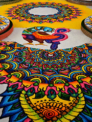 Kolam - Nearly Complete (█ Slices of Light █▀ ▀ ▀) Tags: kolam கோலம் rangoli color colorful colour rice flour chalk rock powder drawing painting diwali 排燈節 divali दिवाली தீபாவளி deepavali dipavali light darkness hindu indian festival jains sikh buddhist midvalley gardens shopping mall kl 吉隆坡 kuala lumpur 马来西亚 malaysia மலேஷியா मलेशिया 馬來西亞 sony a6500 sigma 28mm f28
