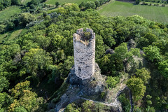 Tower of Skalka Castle (The Adventurous Eye) Tags: vlastislav ústínadlabemregion czechrepublic tower skalka castle věž ruins zřícenina hrad medieval architecture history