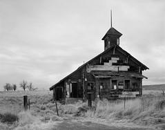 Abandoned Schoolhouse, Washington (austin granger) Tags: abandoned schoolhouse washington ruin decay time evidence field impermanence history film largeformat chamonix