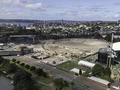 Sydney Football Stadium Construction Progress, 2019 (Luke Zeme Photography) Tags: sydney sfs football stadium cricket ground nsw new south wales members stand pavilion 2019 aerial drone dji mavic luke zeme license grandstand scg trust australian sport heritage listed ladies pavilions noble bradman messenger robinson tosh architect afl australia federation nrl blues waratahs rugby au st george illawarra 6ers fc roosters swans wallabies tab qantas uts telstra sydneyfootballstadium lendlease redevelopment rebuild construction demolish demolishment