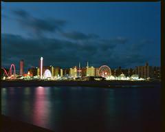 Coney Island Lights (GPhace) Tags: 120mm 2019 brooklyn coneyisland dinoswonderwheel ektar100 filmphotography kodak longexposure lunapark mamiya mediumformat nyc rb67pros shootfilm summer filmgrain manualfocus tripod