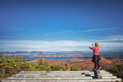 Helicopter pad on top of Big Moose Mountain - Big Moose Township Maine (Jonmikel & Kat-YSNP) Tags: fall hiking maine newengland woods trees trail forest mountain peak mountaintop view