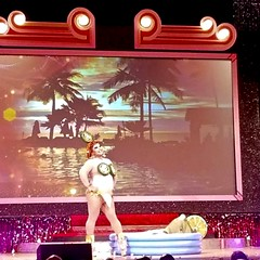 20191008_072443-1 (danimaniacs) Tags: rebaareba dragqueen misstexas pageant swimsuit competition costume pool inflatable jalapeno bikini
