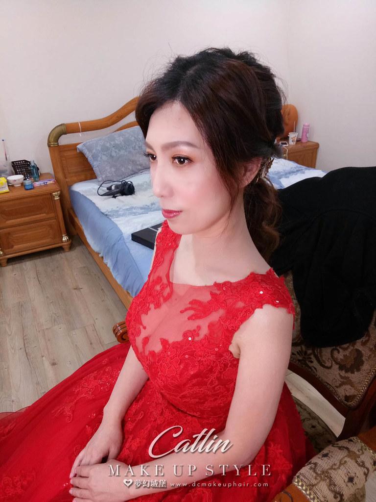 【新秘Catlin 】bride曉璇 訂婚造型 /韓系低馬尾