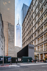 Temporary View (20191010-DSC05272) (Michael.Lee.Pics.NYC) Tags: newyork lowermanhattan shiftlens fultoncenter architecture cityscape wtc worldtradecenter construction sony a7rm4 laowa12mmf28