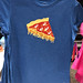 Asics Runningshirt mit Pizzamotiv in blau