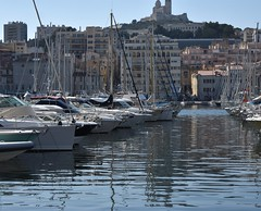 DSC_0250 (thomasgorman1) Tags: harbor marina port vieuxport marseille france nikon boats sailboats view church docked europe
