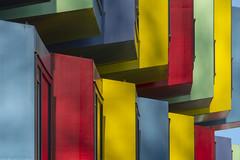 Student apartments (Jan van der Wolf) Tags: map195236v cube house studenthouses huizen apartmentbuilding colors colours kleuren herhaling repetition almere