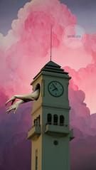 El Campanil (Casihumano) Tags: surrealista subjetivo surrealism subjetive surrealismo surrealart surreal art artsurreal collage collgearts collageart collages imagination imaginacion reloj manos irreal