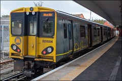 Merseyrail 507008 (Mike McNiven) Tags: merseyrail merseyside sercoabellio liverpool liverpoolcentral central kirby westkirby pep 3rdrail emu electric multipleunit