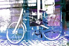 S-E-ER-S (roberke) Tags: geassembleerd samengesteld photomontage photoshop layers lagen textures textuur bike fiets creation creative creatief surreal fantasy street straat