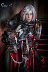 Piece of Cake Cosplay as Sister of Battle from Warhammer 40K, by SpirosK photography (ch.2: fighting and preaching) (SpirosK photography) Tags: cosplay costumeplay palazzogonzaga portrait spiroskphotography voltaincosplay voltaincosplay2019 vic pieceofcake pieceofcakecosplay postapocalyptic 40k warhammer40k warhammer tabletoprpg rpg game videogame gaming sisterofbattle adeptasororitas gun