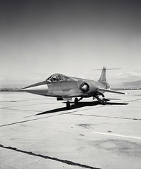 Lockheed JF-104A (AF56-745A Tail No. 60745) Starfighter airplane piloted by Fred Drinkwater conducted flight testing that demonstrated steep approaches that were ultimately used by the space shuttle. (aeroman3) Tags: otherkeywords tags tagcc0 airforce aircraft aircraftcarrier airplane army aviation blackandwhite cc0 flight flighttesting flying greyscale jet jf104a lockheed military name pdnasa pilot publicdomain runway soldier spaceshuttle starfighter transport war