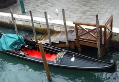 Empty gondola (thomasgorman1) Tags: fujifilm gondola empty boat travel water canal venice italy seagulls gulls steps docked