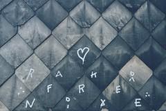 Written on slate stone.. (erlingraahede) Tags: bedifferent exploring goslar canon vsco streetphotography slate writing