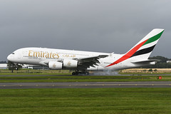 A6-EDA Airbus A380-861 EGPF 22-08-19 (MarkP51) Tags: a6eda airbus a380861 a380 emiratesairlines ek uae glasgow airport gla egpf scotland airliner aircraft airplane plane image markp51 nikon d500 nikonafp70300fx sunshine sunny