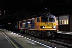 Rest In Peace (TimboM) Tags: gbrf gbrailfreight wcml 1m16 winsford delayed caf caledoniansleeper highlander beds sleeper sleepertrain class92 92043 debussy winsfordstation mk5 serco