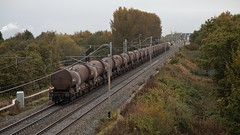 1800 Tonnes (TimboM) Tags: gbrf gbrailfreight wcml class66 6s94 silverbullet chinaclay irvinecaledonianpaper moorelane moore freighttrain freight tanks nightandday nightday celebrity speciallivery 66720 rainbow ica