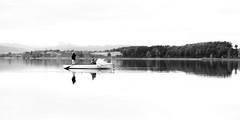 Mystic Lake (helbldan) Tags: monochrome simple lake bnw landscape fishermen water pfäffikersee zurich switzerland pfäffikon