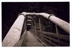Bridge Over Sandy River (Robert Drozda) Tags: marmotdamsite sandyriver sandy oregon bridge film ilfordhp5 olympusxa2 bluemooncamera drozda