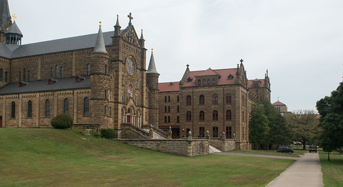 St. Meinrad, IN Monastery / reflection (#0321)