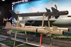 PL-3 and PL-7 Air to Air Missiles (NTG842) Tags: beijingchina beijingairspacemuseum beihanguniversity beijing aerospace museum vympel k13 nato reporting name aa2 atoll pl7 air to missile