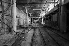 Road to Ruin (gregador) Tags: newcastle industry decayed abandoned tracks blackandwhite urbex urbanexploring urbanexploration