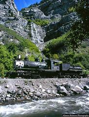 Bridal Veil Falls (jamesbelmont) Tags: tourist locomotive railway railrail train drgw riogrande provocanyon baldwin bridalveilfalls steamengine hebercreeper wasatchmountainrailway