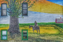 Wall Art (Ken Mattison) Tags: buildings outdoor windows mural wallart painting colors colour serene oldbuildings rural history landscape street urbanx panasoniclumix fz1000 city sunprairiewisconsin usa