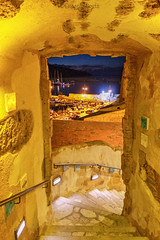 Porta dorata - Golden Door (Eugenio GV Costa) Tags: approvato sicilia sicily borgo sky clouds seaside village trapani outside mare acqua castellammare sea water barche cielo nuvole mountain montagna boats blue hour ora blu