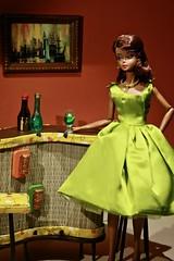 Tiki Bar mood (barbiescanner) Tags: fashion fashiondolls midcenturymodern barbie barbiefashions dressmakerdetails diorama fashiondollphotography miniatures tikibar silkstonebarbie