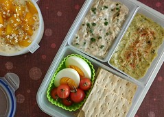 Bento 699 (Sandwood.) Tags: bento lunch lunchbox cooking food meal dish dip spread bread yoghurt egg hummus snack
